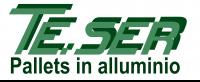 Teser | Pallet in alluminio Logo